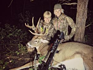 Tiffany's Mom, Linda Profant, enjoyed early season success with this beautiful Iowa buck taken with her Mission Crossbow in October 2014.