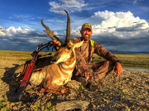 Big Buck Down! Lee's 2014 hunting season is off to a great start! Shot this beautiful antelope yesterday with his bow in Colorado. Spot and stalk... what a great hunt!